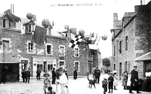 ancienne photo de Saint-Briac, le village qui a vu naître la pâtisserie rose, la Briacine